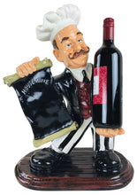 Load image into Gallery viewer,  Resin chef wine holder 45x33x20cm