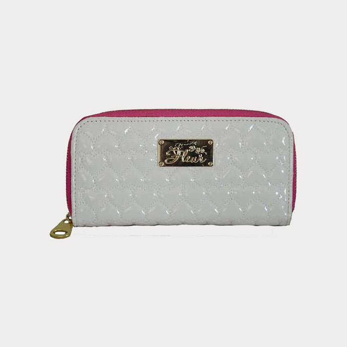White Quilted Purse