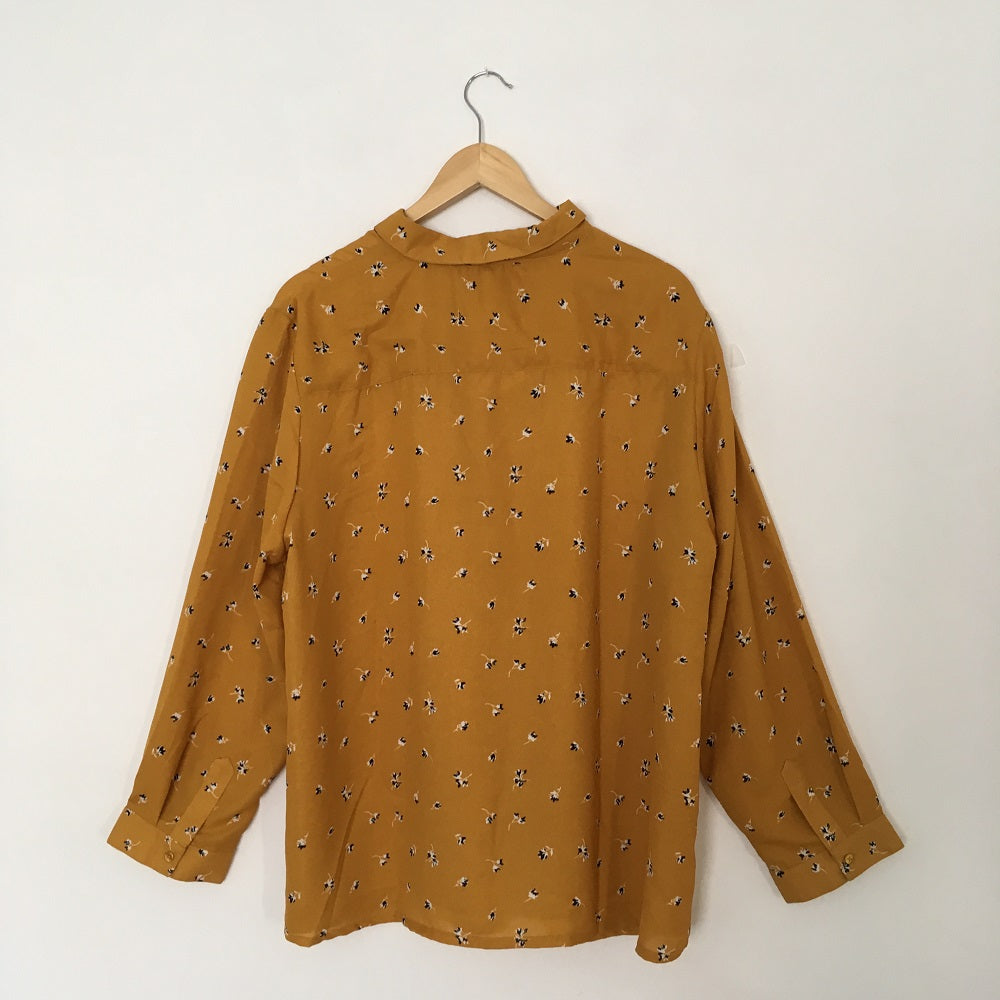 Ochre Yellow Long Sleeved Blouse
