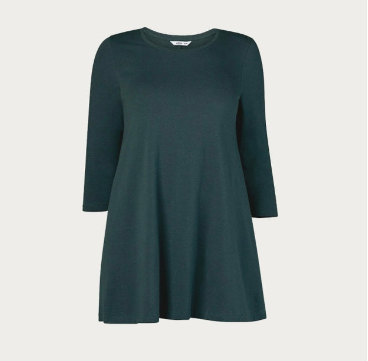 Dark Green A Line Tunic