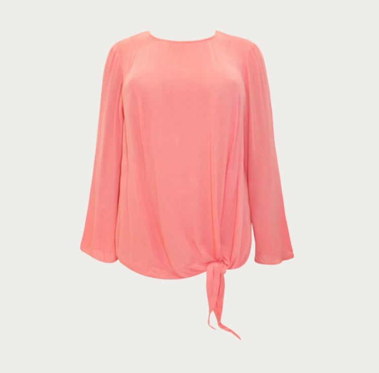 Salmon Crinkle Blouse