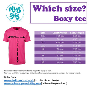MissFits Workout Pink Boxy T Shirt