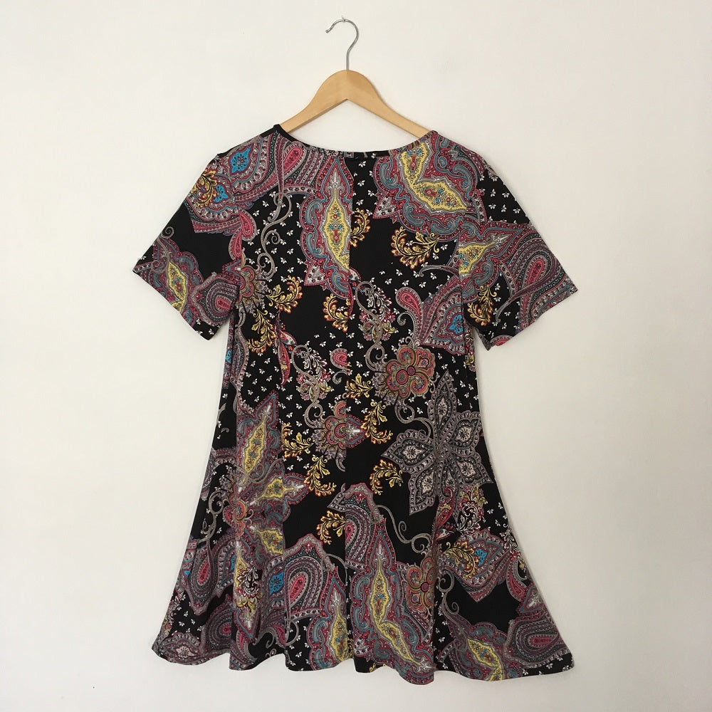 Paisley Floral Print Swing Top