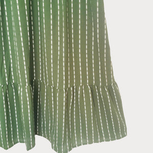 Green Striped Midi Dress