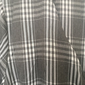Grey Checked Tie Waist Dress