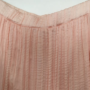 Pale Pink Pleated Midi Skirt