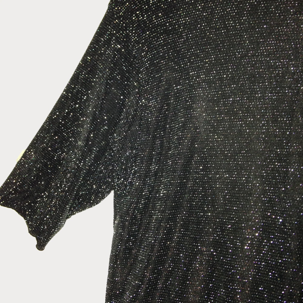 Silver and Black Sparkle Shrug