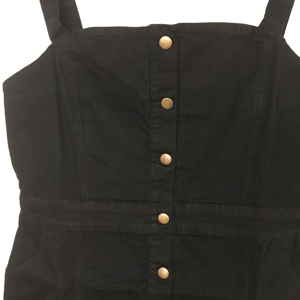 Black Dungaree Dress