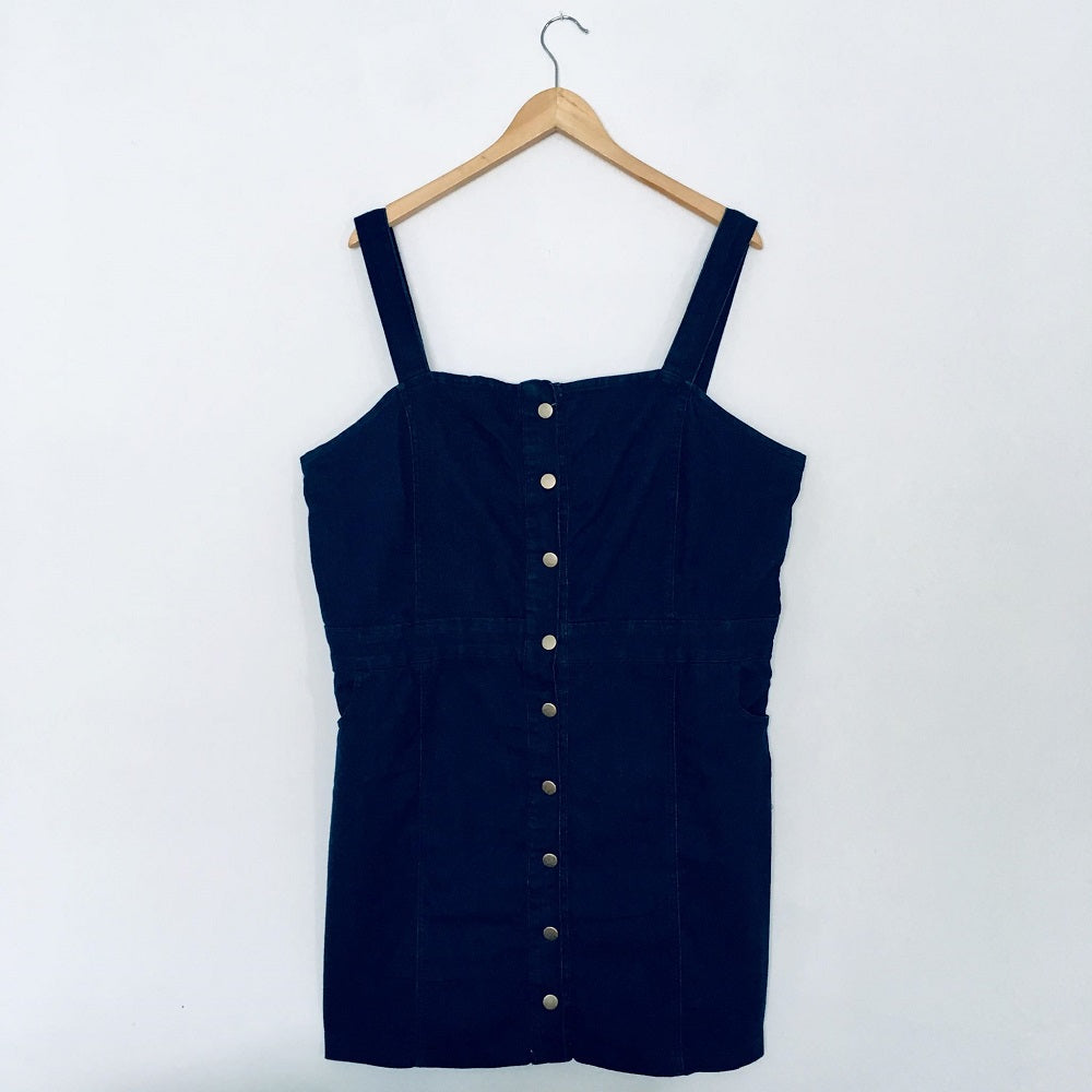 Dark Blue Dungaree Dress