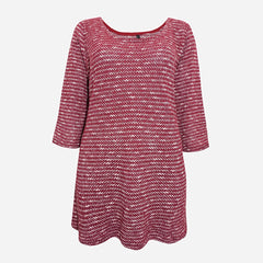 plus size knitted maroon top
