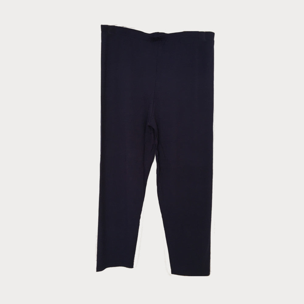 Navy Blue Cropped Leggings