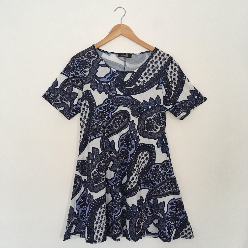Blue Paisley Swing Top