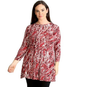 Red Abstract Print Swing Tunic