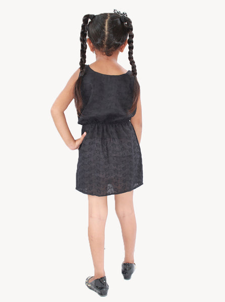 Sleeveless Stylish Black Frock