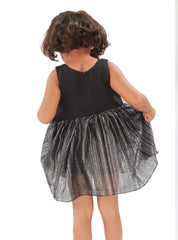 Black flit frock with silver lining
