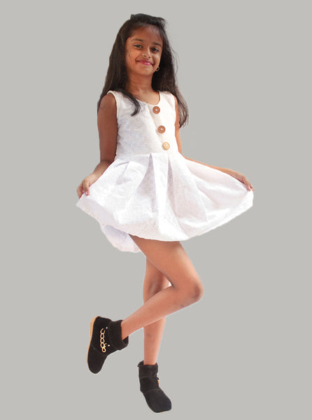 White Simple frock