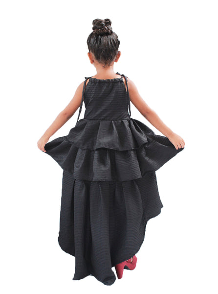 Black astronomical gown