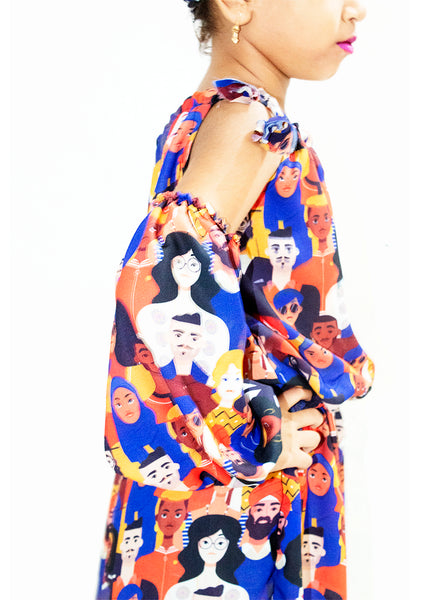 Face Print stylish frock