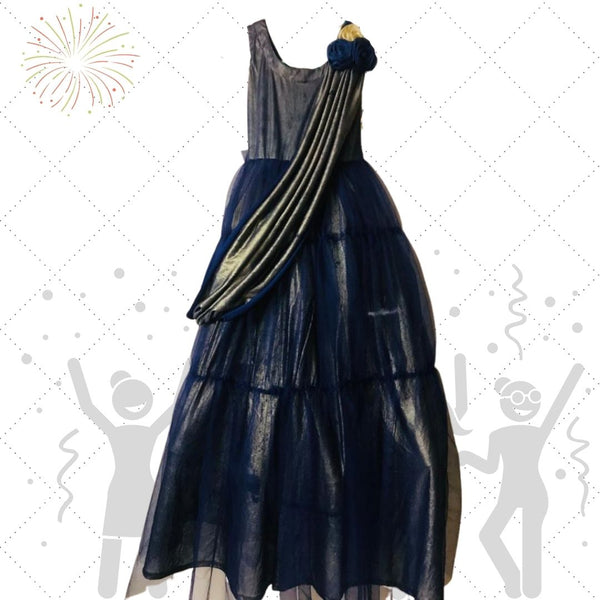 Navy Blue Party Wear Gown