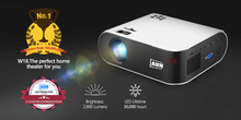 Load image into Gallery viewer, Mini Projector 2800 Lumens HD 1080P LED Projector 3D Home Theater