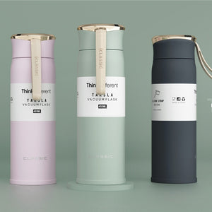 Insulated Travel Water Bottle 450ml Thermal Cup Eco-Friendly