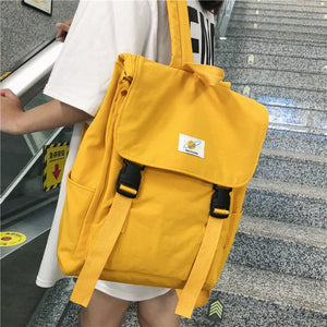 Waterproof Backpack Women Canvas Bag School Travel