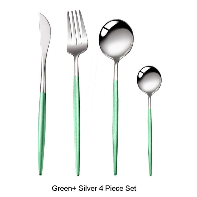 4Pcs Cutlery Set 18/10 Stainless Steel Dinnerware