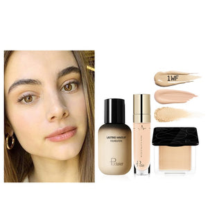 Pudaier Face Foundation Makeup Set Liquid Foundation Cream Matte Foundation Base Face Concealer