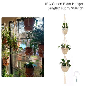Handmade Macrame Plant and Flower Hanger