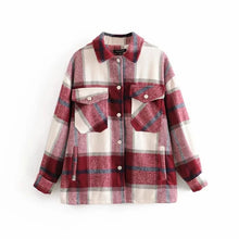 Load image into Gallery viewer, Plaid Shirt Jacket