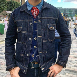 Casual?Men's Single-breasted Jean Jacket
