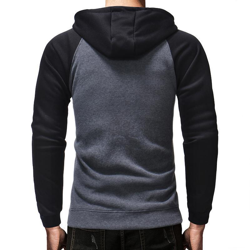 Autumn And Winter New Men's Casual Slim Zipper Cardigan Coat