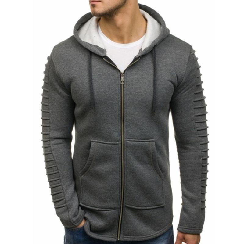 Men's Striped Long Sleeve Coat