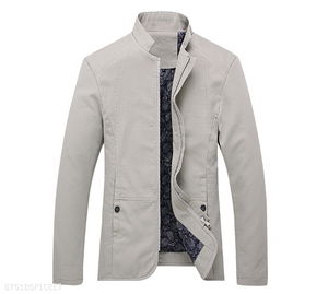 Mens Stand Collar Jacket