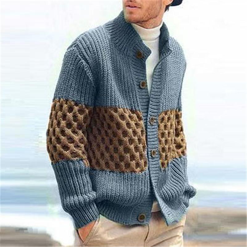 Fashion men's stitching su sweater