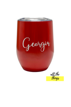 Load image into Gallery viewer, Personalized red tumbler
