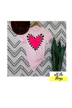 Load image into Gallery viewer, Hot Pink Heart Tee