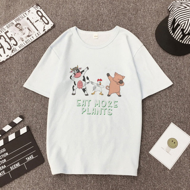 Women's Cute Vegan Aesthetic T-Shirt