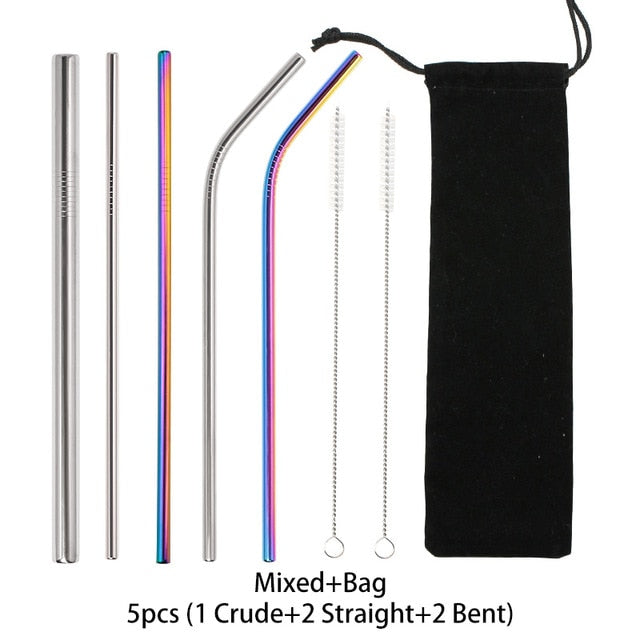 Reusable Stainless Steel Straight Straws