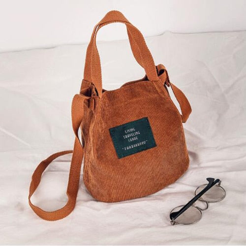 Women's Corduroy Shoulder Handbags