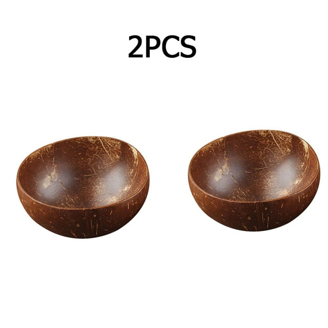 Natural Wooden Coconut Bowl