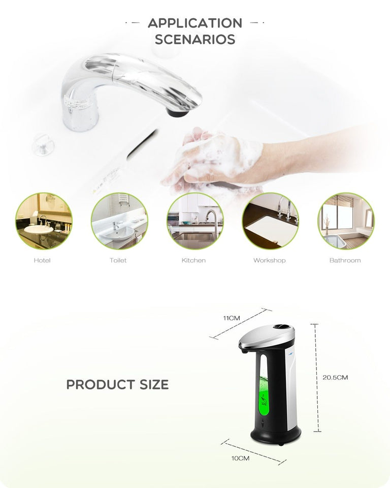 400Ml Automatic Liquid Soap Dispenser - Gadget Blu