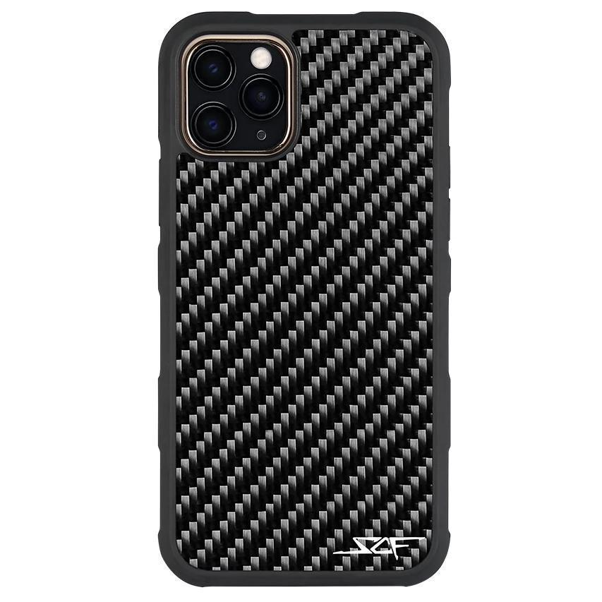 iPhone 11 Pro Real Carbon Fiber Case | ARMOR Series - Gadget Blu