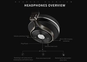 Bluedio T3 Wireless Bluetooth Headphones/headset - Gadget Blu