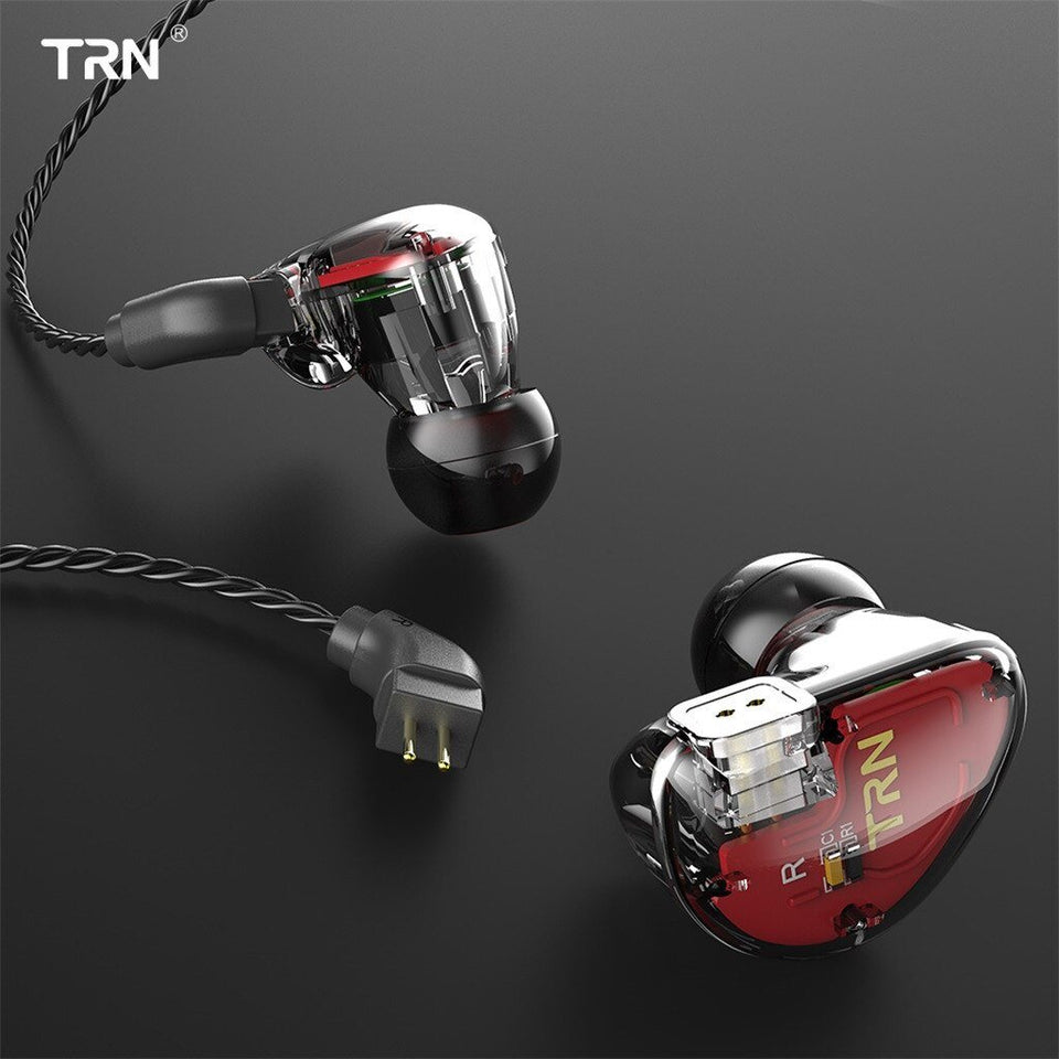 TRN V30 EarHIFI SIX-Unit Ring Iron Headphones - Gadget Blu