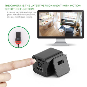 HD 1080P Hidden Camera USB Charger Home Security - Gadget Blu