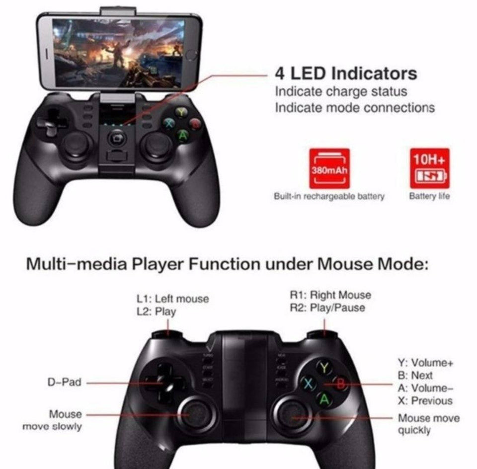 Ninja Dragons Bluetooth Gaming Controller for Android and PCs - Gadget Blu