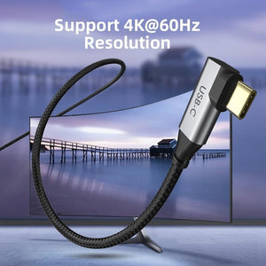USB C to HDMI 90degree Cable Adapter Type C to HDMI 4K 60Hz - Gadget Blu