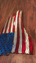 Load and play video in Gallery viewer, Custom metal distressed american flag wall art