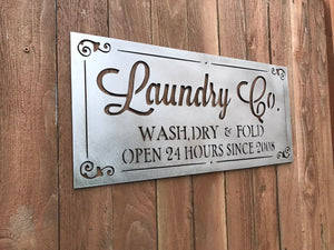 Custom Metal Laundry Sign